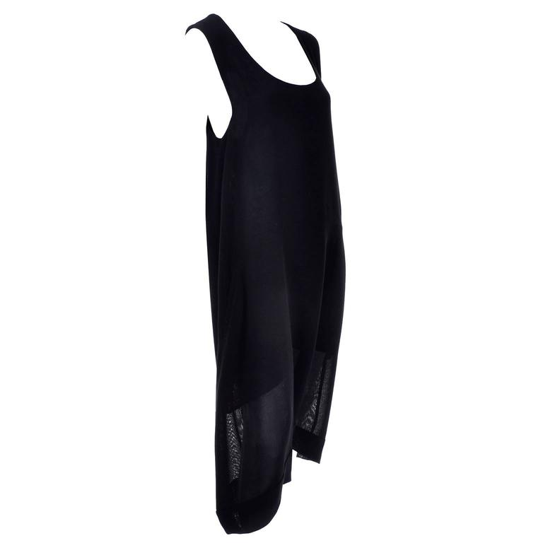 1990s Issey Miyake Lightweight 100% Wool Drop Crotch Jumpsuit Romper Dress 4
