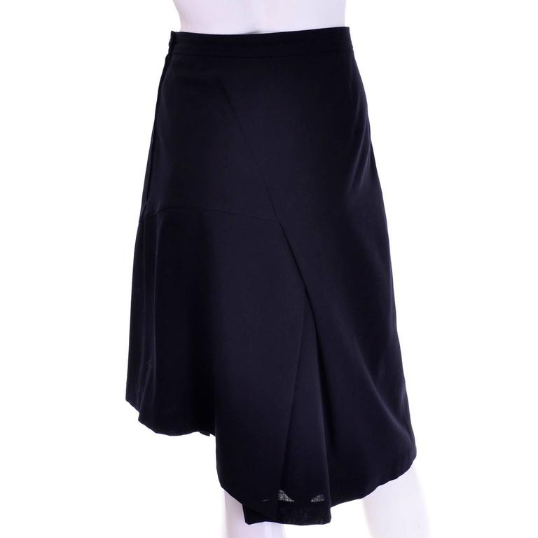Comme des Garcons Vintage Avant Garde Asymmetrical Wool Skirt  In Excellent Condition For Sale In Portland, OR