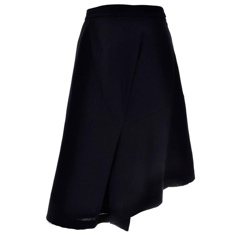 Comme des Garcons Vintage Avant Garde Asymmetrical Wool Skirt  For Sale