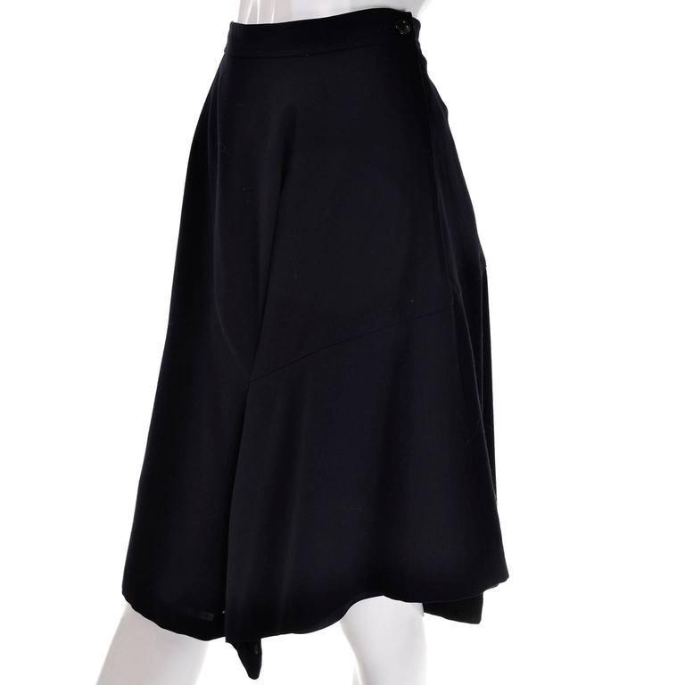 Women's Comme des Garcons Vintage Avant Garde Asymmetrical Wool Skirt  For Sale