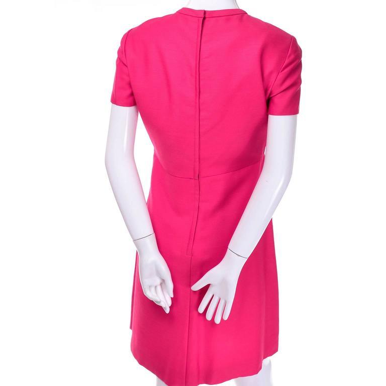 1960s Emma Domb Pink Dress and Coat Suit Ensemble Excellent Condition For Sale 3