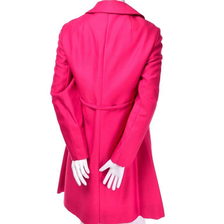 1960s Emma Domb Pink Dress and Coat Suit Ensemble Excellent Condition For Sale 4