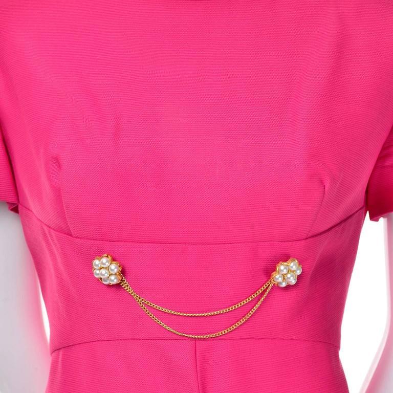Women's 1960s Emma Domb Pink Dress and Coat Suit Ensemble Excellent Condition For Sale