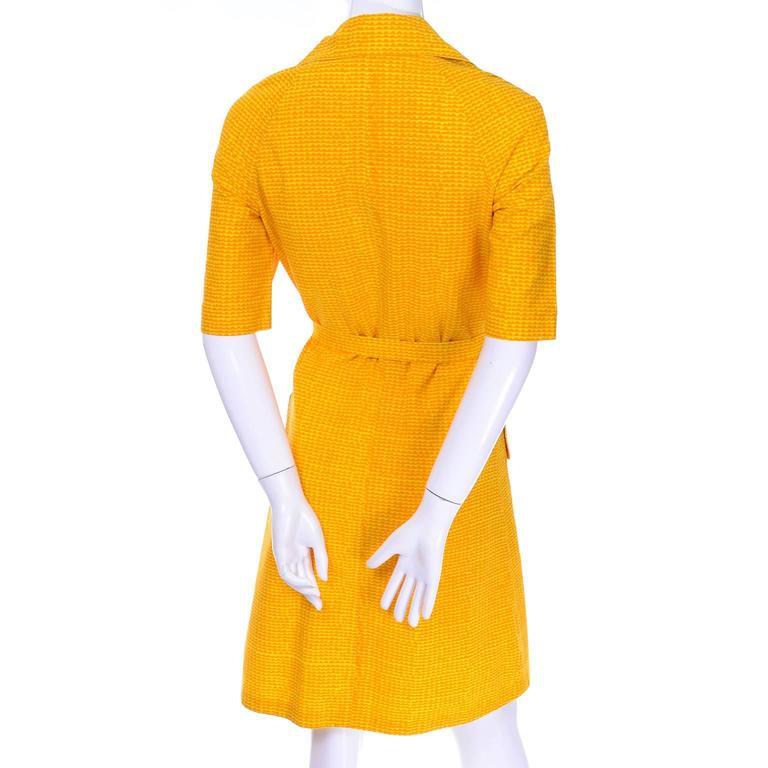 bf46dd577a4c Women's Vintage Marimekko Vintage Summer Dress Orange Yellow Cotton Print  For Sale
