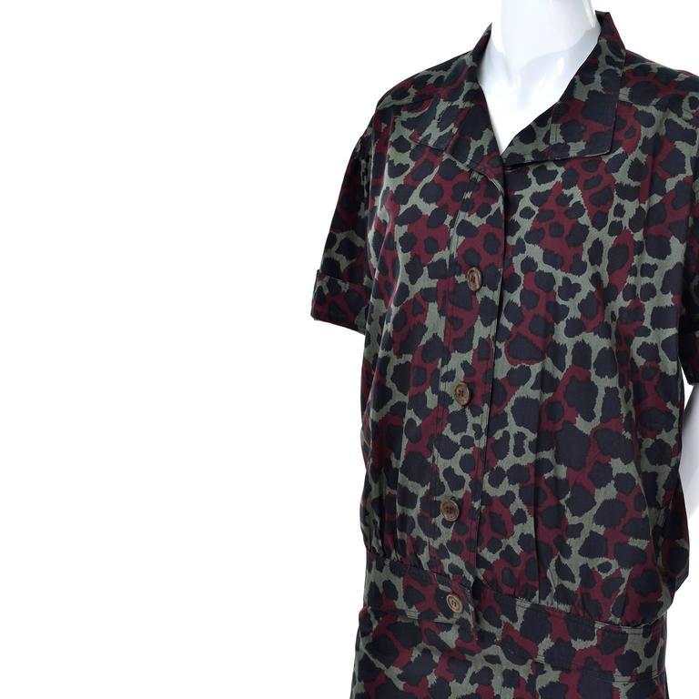 Women's Yves Saint Laurent Vintage Camouflage Skirt Jacket Suit Ensemble YSL 1980s For Sale