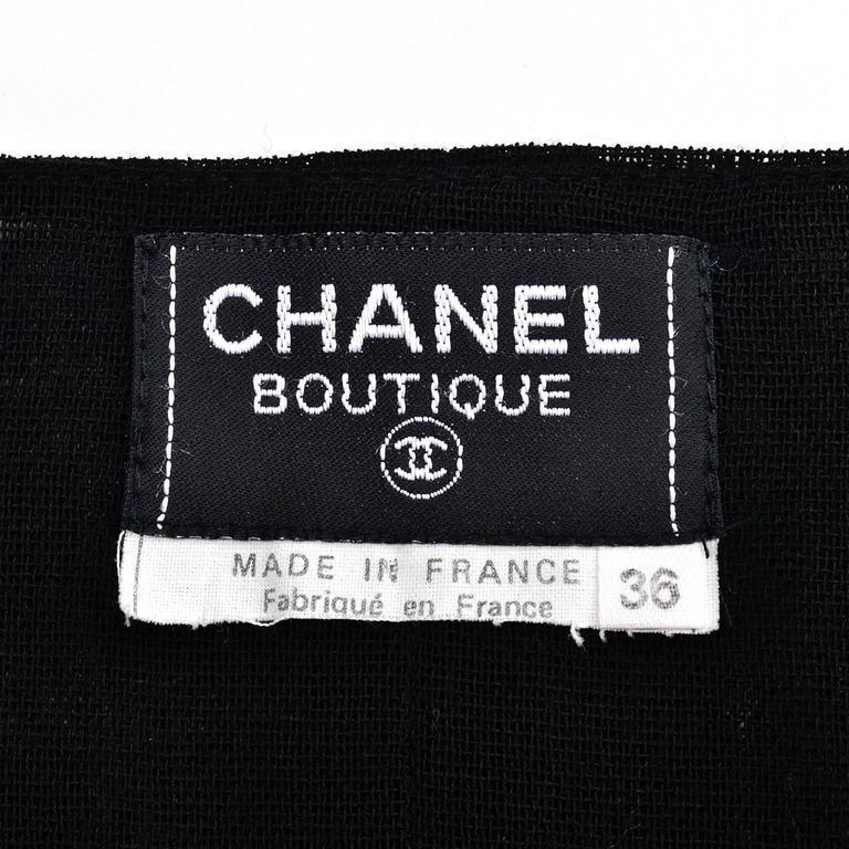 Chanel Vintage Asymmetrical Halter Dress with Camellia Bolero Jacket, 1994 For Sale 5