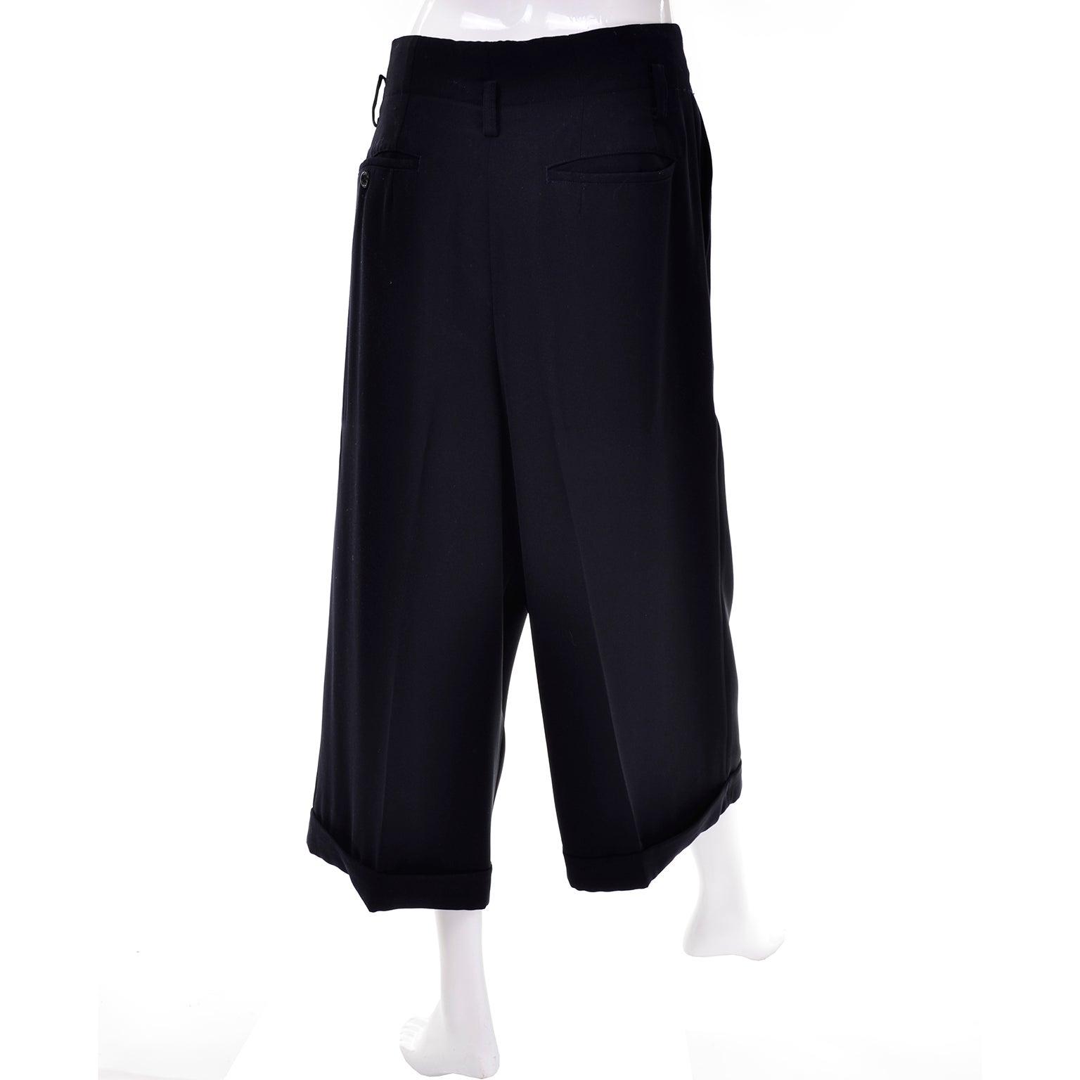1b782fe7c507 Comme des Garcons Vintage Cropped Oversized Pants Medium For Sale at 1stdibs