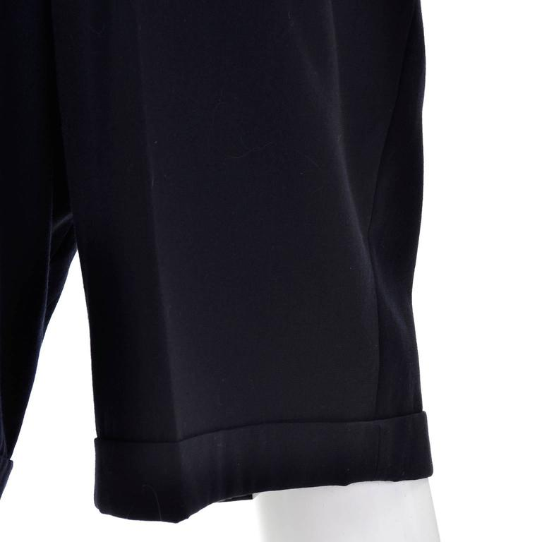 Comme des Garcons Long Shorts Midnight Wool Oversized Medium For Sale 1