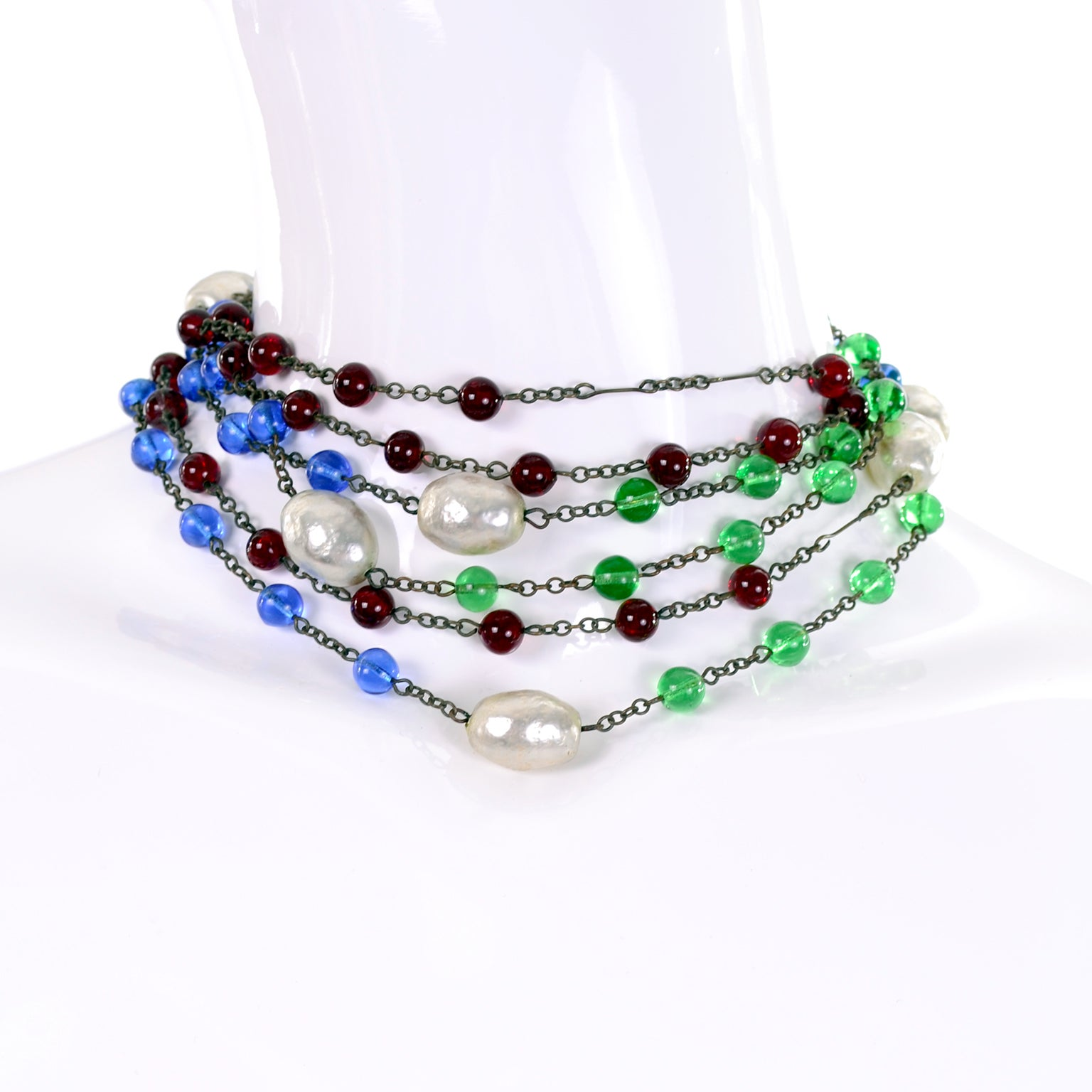 Art Deco rare beads lampwork beads 1920/'s red glass icicle beads Antique beads spiral beads red glass bead vintage beads 1920/'s beads