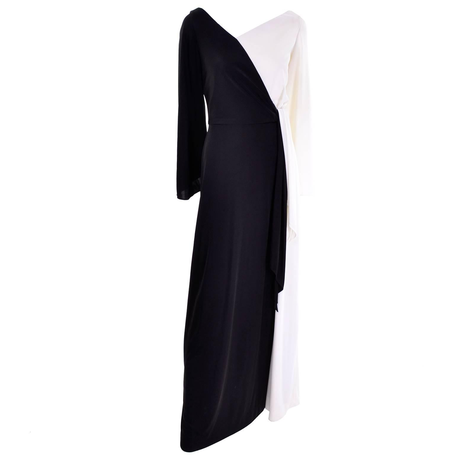 Estevez Vintage Black and White Jersey Dress New With Original Tags