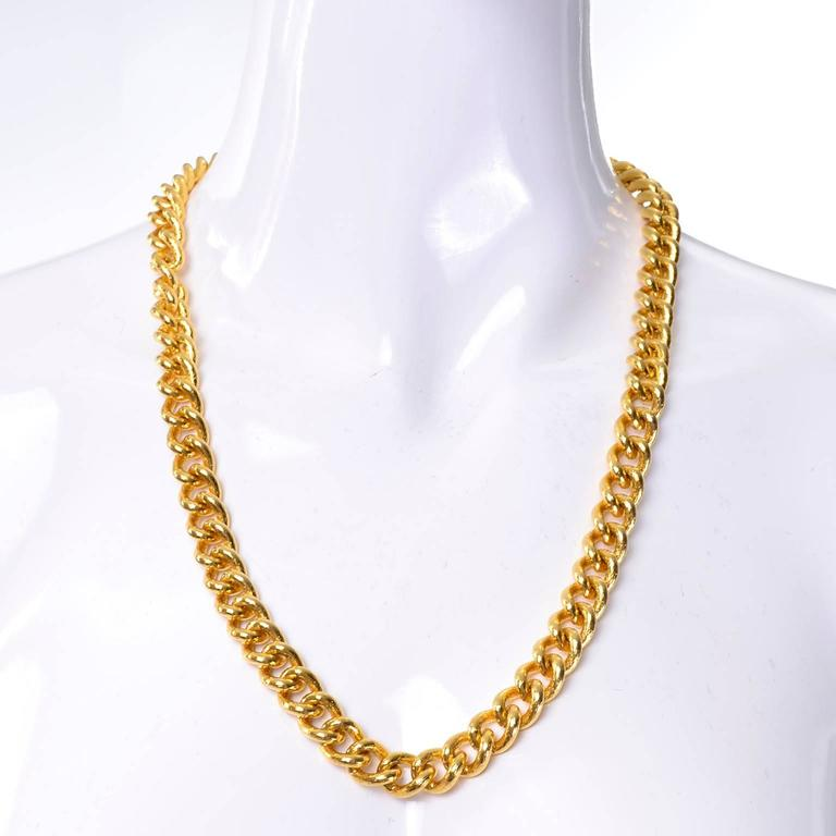 monet tradesy gold extra chain heavy long necklace i plated