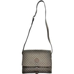 Vintage Fendi SAS Canvas & Leather Logo Handbag w Adjustable Shoulder Strap