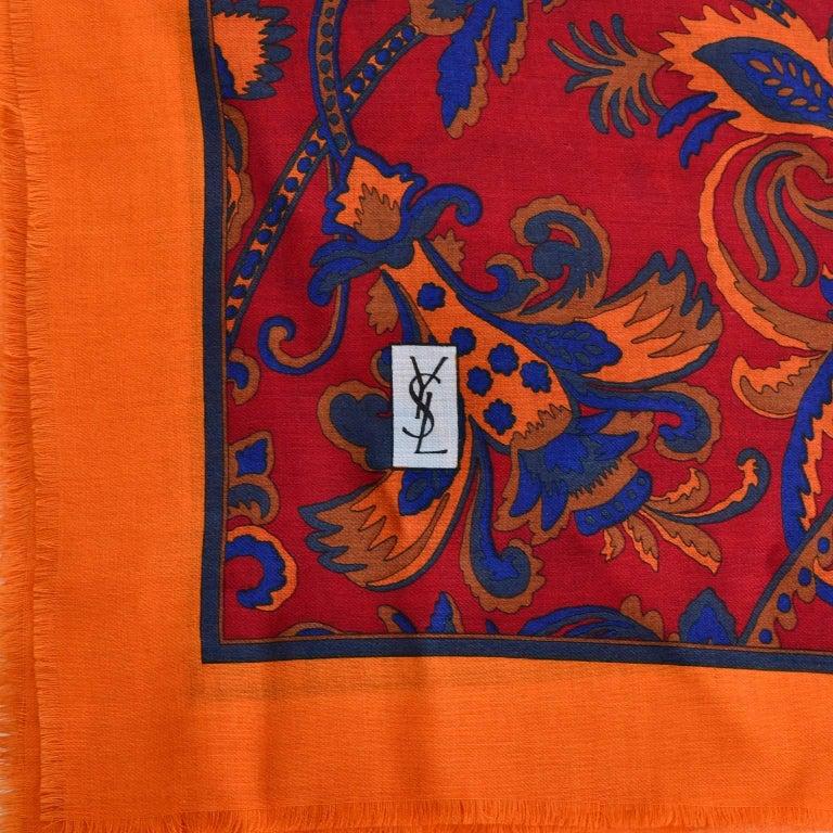 Women's YSL Yves Saint Laurent Vintage Scarf 34
