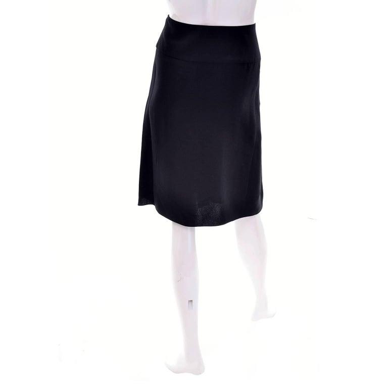 Christian Lacroix Vintage Black Silk & Rayon Skirt W/ Sequins & Appliques 10/12 For Sale 3