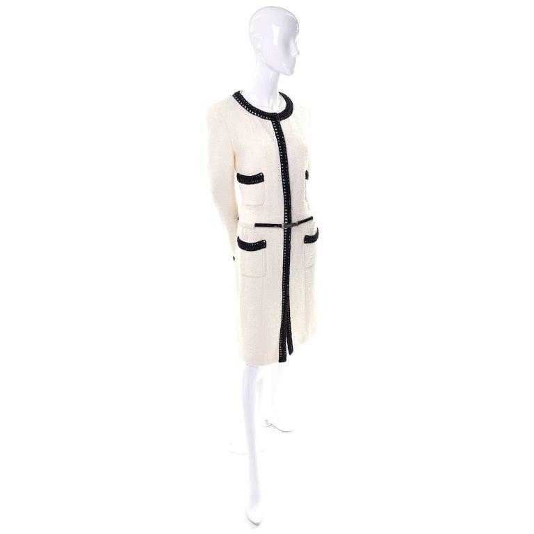 Chanel 2000 Documented White Tweed Coat Black Trim Kyoto Costume Institute 8/10 4