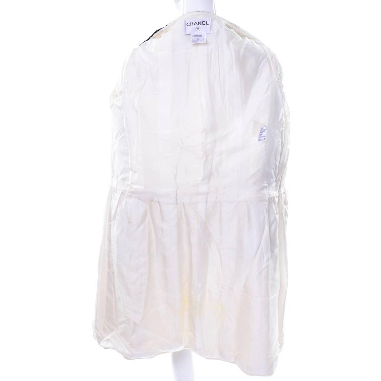 Chanel 2000 Documented White Tweed Coat Black Trim Kyoto Costume Institute 8/10 9