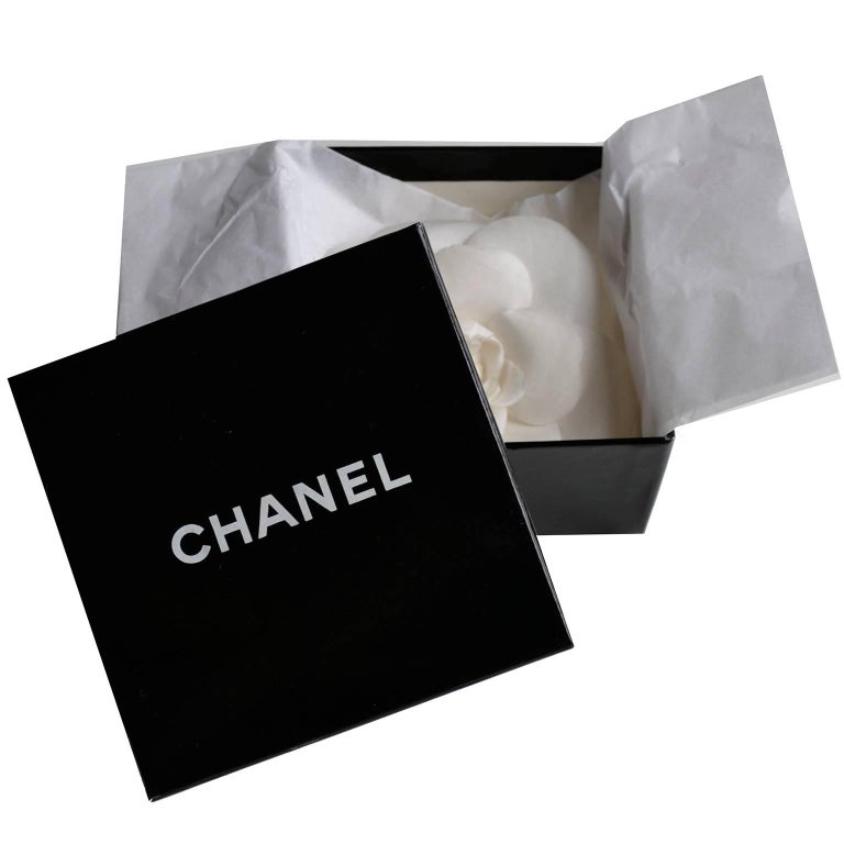 Chanel Camelia Flower Brooch W/ Original Box and Tag Attached 4