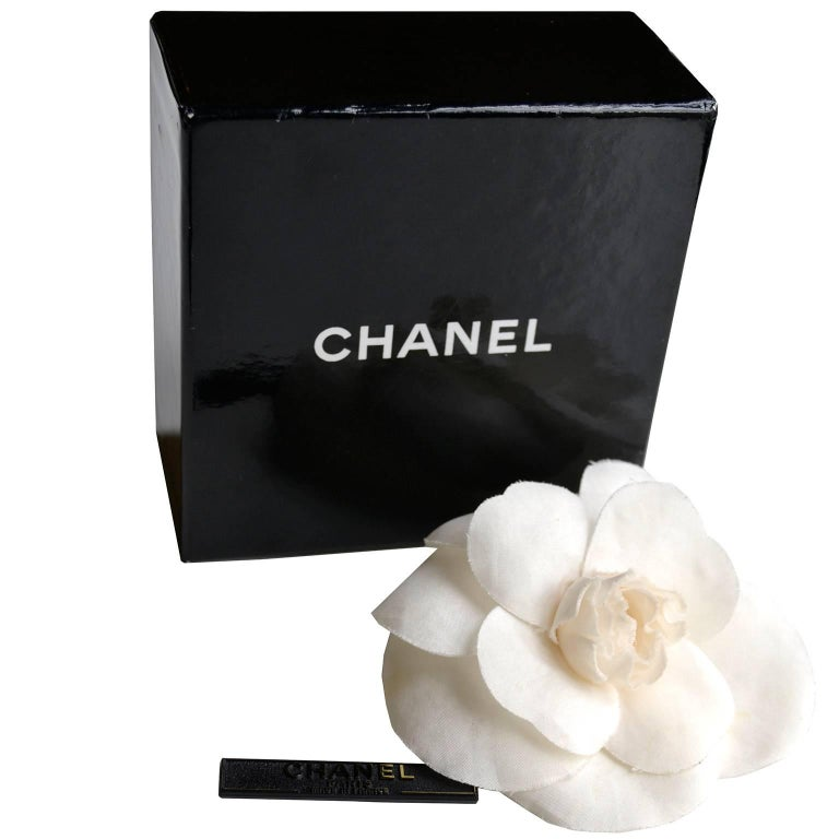 Chanel Camelia Flower Brooch W/ Original Box and Tag Attached 1