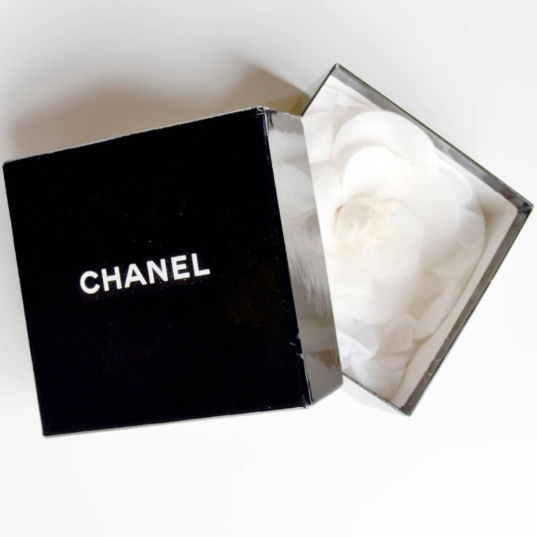 Chanel Camelia Flower Brooch W/ Original Box and Tag Attached 5