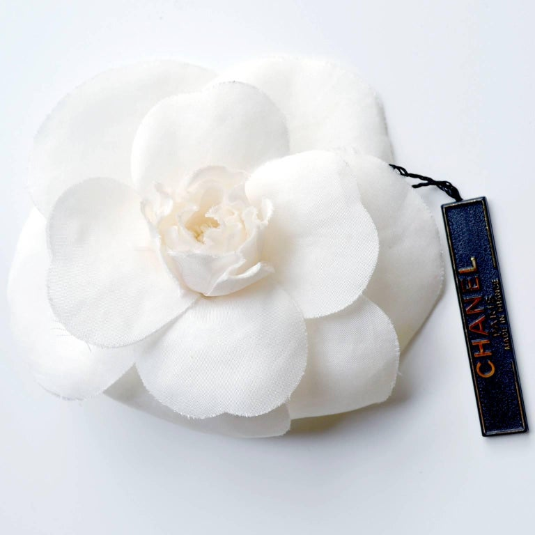 Chanel Camelia Flower Brooch W/ Original Box and Tag Attached 2