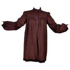 YSL Yves Saint Laurent Vintage Paisley Russian Peasant Inspired Dress