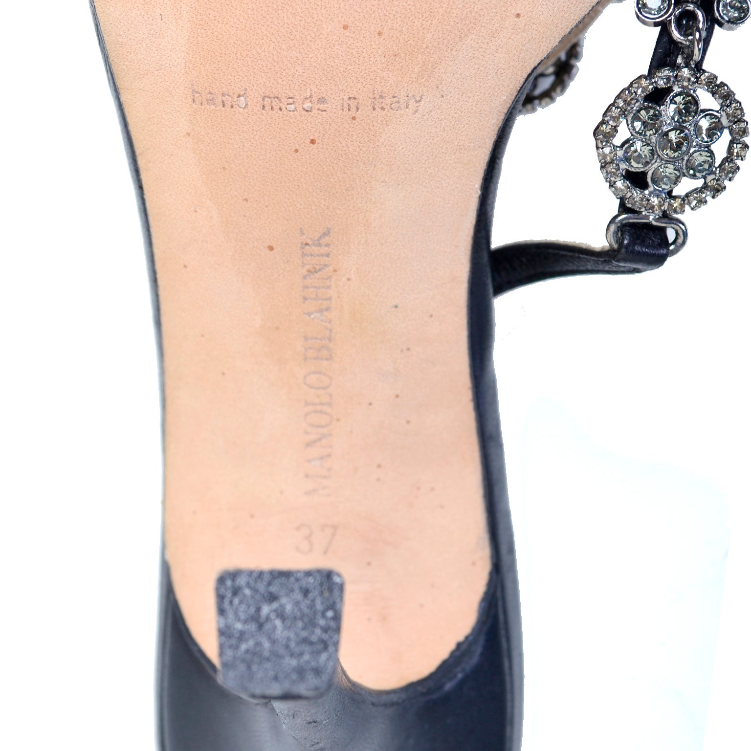 9e05e9891d Rare Manolo Blahnik Shoes Vintage Ankle Strap Heels With Crystals Size 37  For Sale at 1stdibs