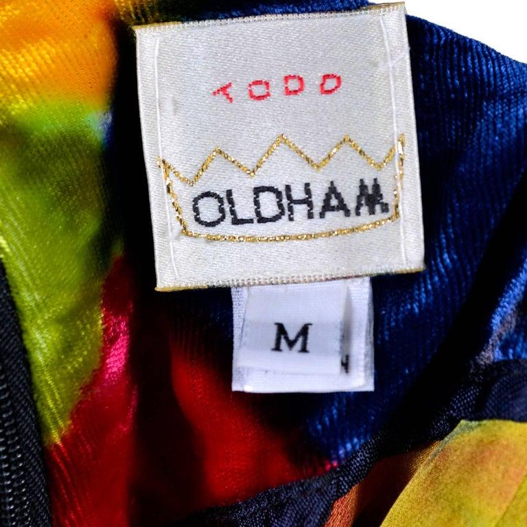 Todd Oldham Vintage Velvet Argyle Harlequin Runway Dress w/ pom poms at the MET For Sale 2