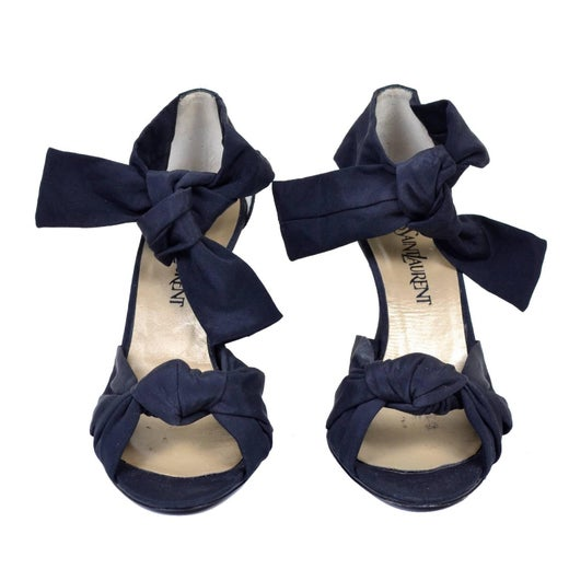 93e36c783 Cher Owned Shoes YSL Yves Saint Laurent Black Vintage Ankle Strap 1930s  Style For Sale at 1stdibs