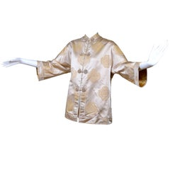 Dynasty 1960s Vintage Silk Chinese Evening Jacket New in Original Box With Tags