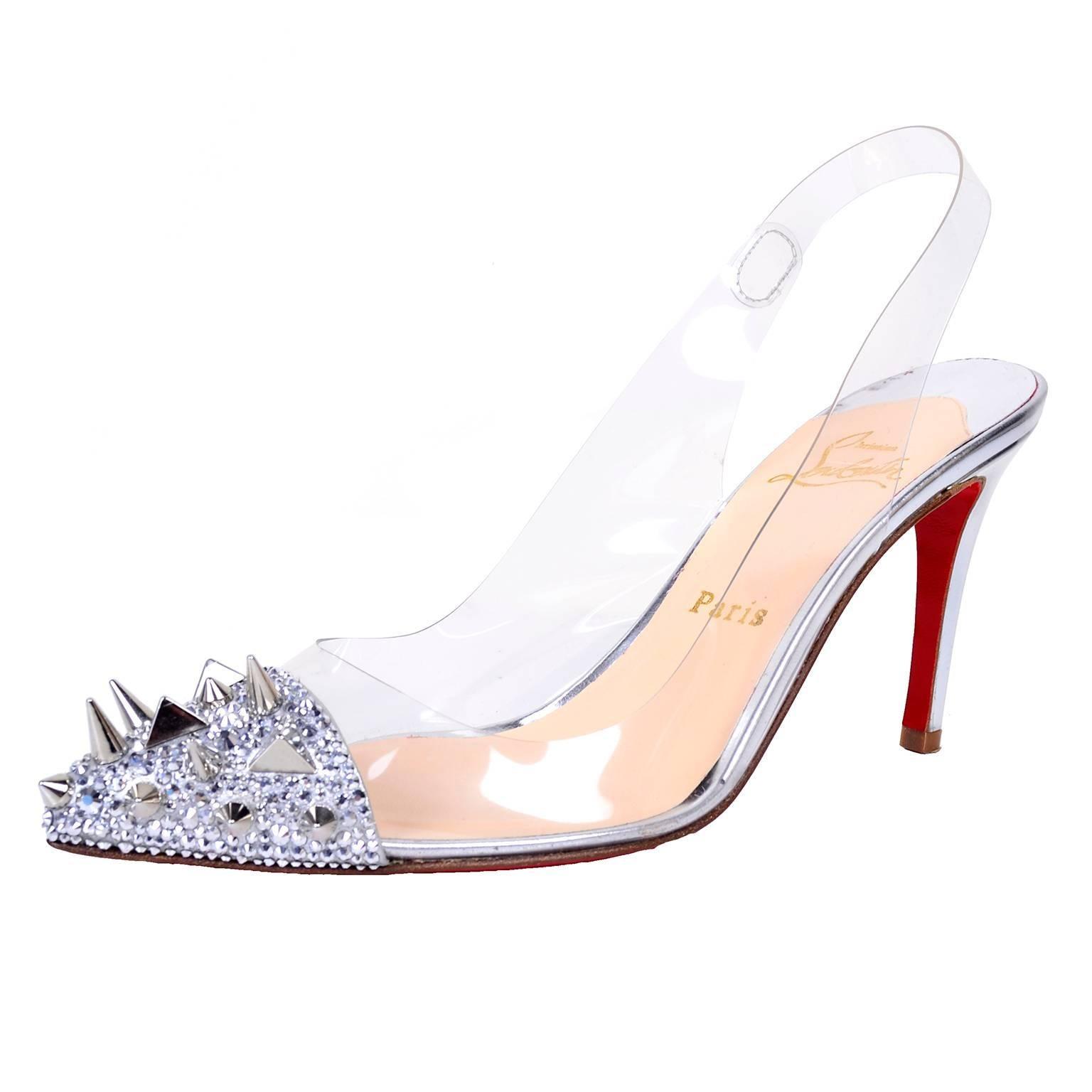 Silver Spiked Heels 0iXaLfQA