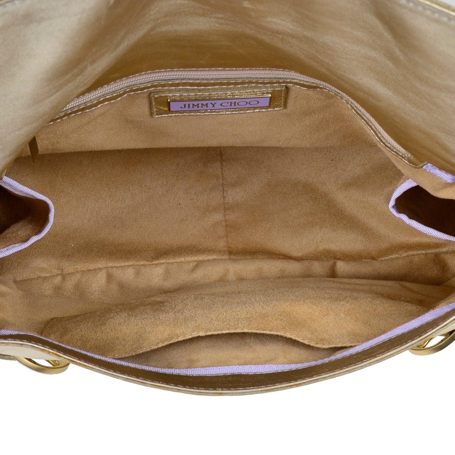 529379b8dd Jimmy Choo Vintage Gold Leather Hobo Bag Handbag For Sale at 1stdibs