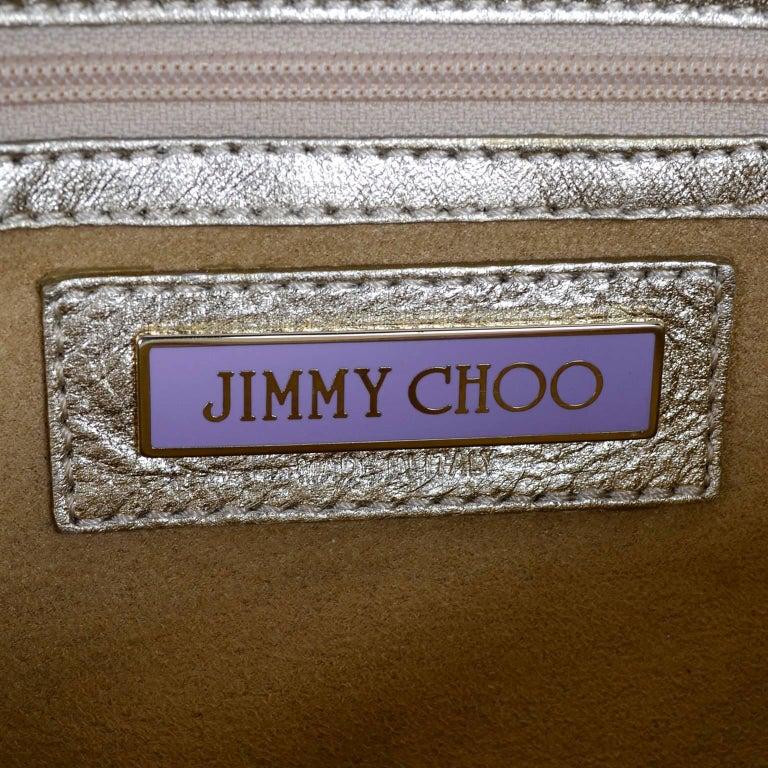 Vintage Jimmy Choo Gold Leather Hobo Bag Handbag With Dust Bag 9