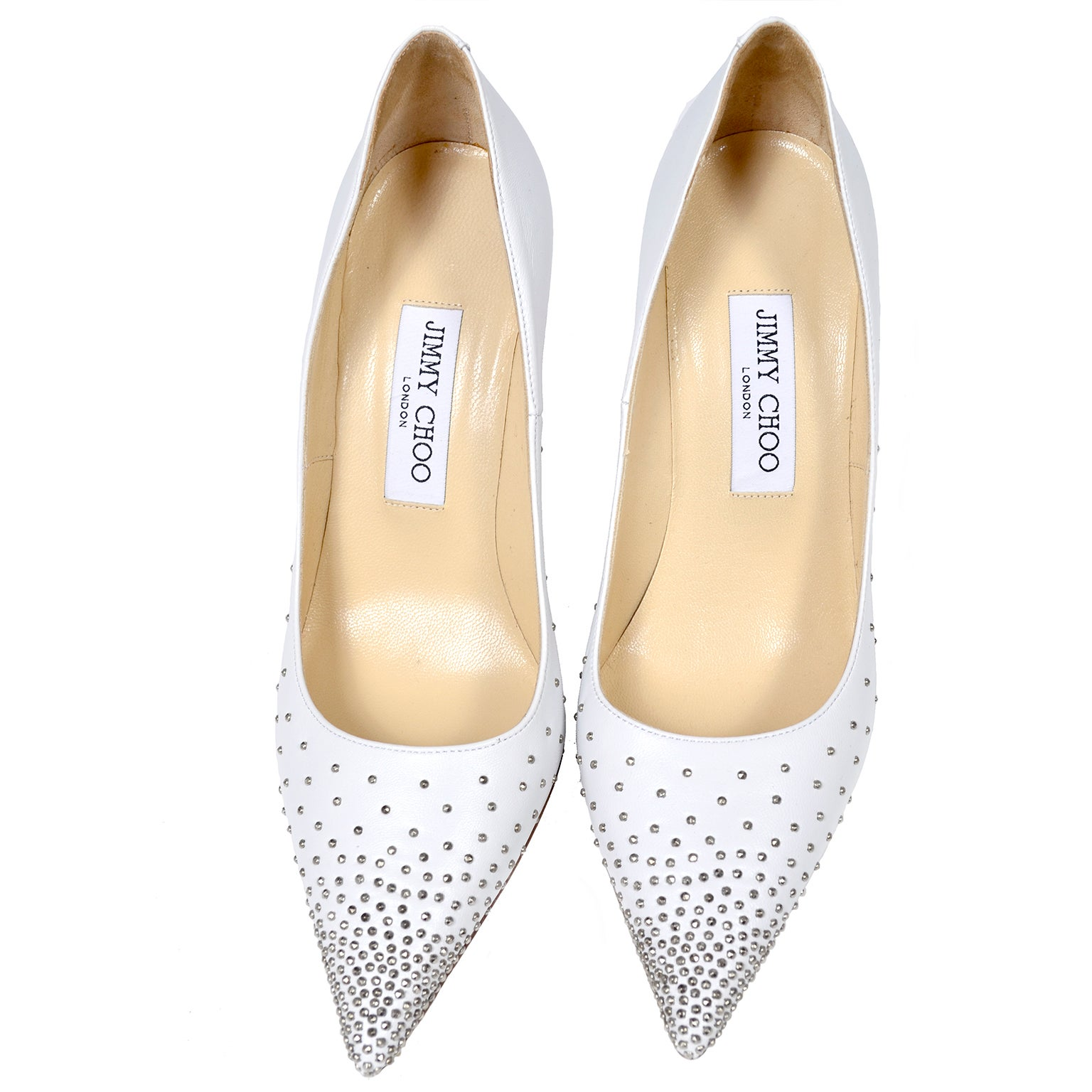 Jimmy Choo Abel White Leather Shoes