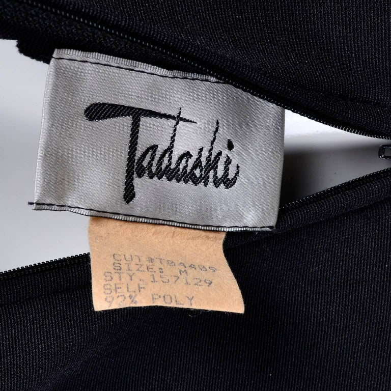 1bc69bcde5d28 Black Stretch Tadashi Vintage Jumpsuit With Stirrups Sheer Illusion Halter  For Sale 1