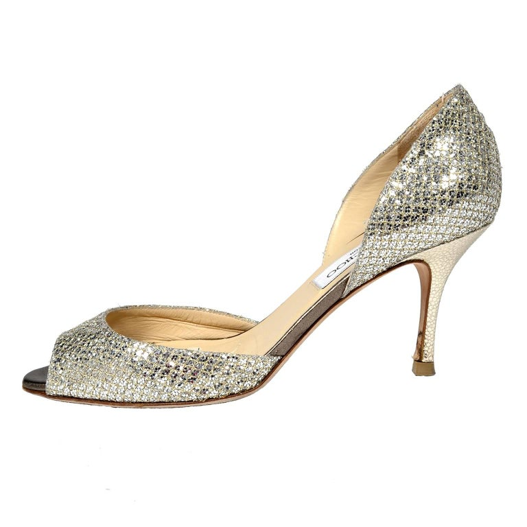 0057e79f34 Women's or Men's Jimmy Choo Shoes D'Orsay Pumps in Glitter Champagne Size  37.5 W