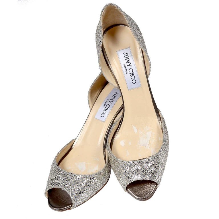 e0496ac5c7 Jimmy Choo Shoes D'Orsay Pumps in Glitter Champagne Size 37.5 W/ Box ...