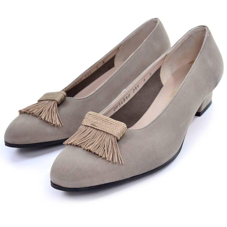 Ferragamo Womens Suede Shoes