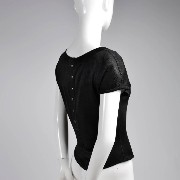 Black Alaia Vintage Top From the Late 1980s or Early 1990s  In Excellent Condition For Sale In Portland, OR