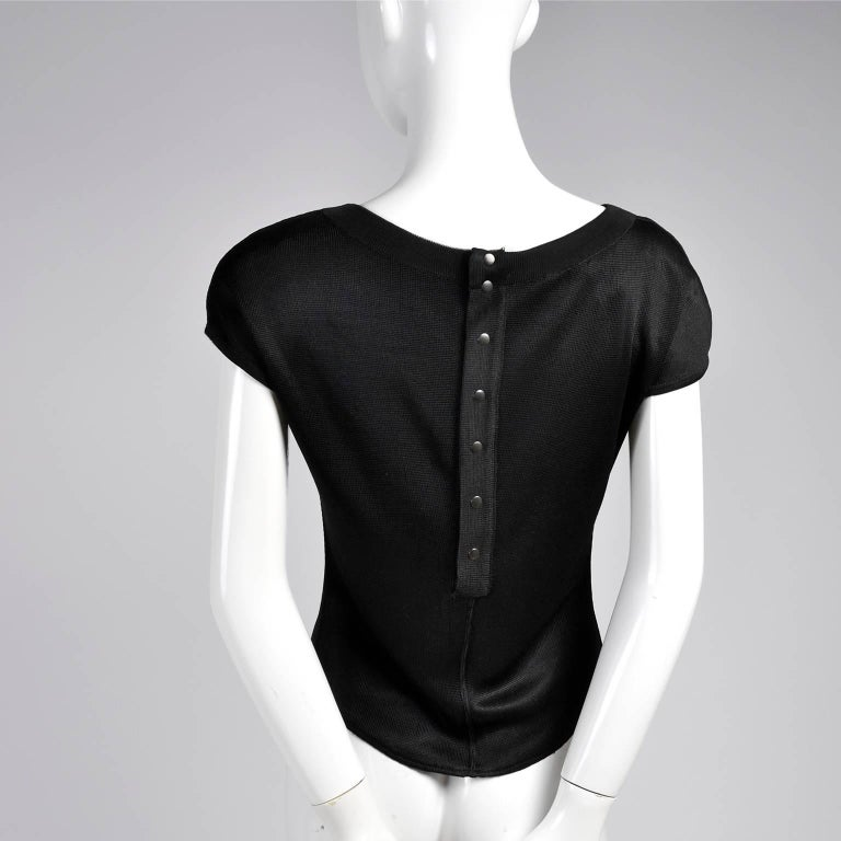 Women's Black Alaia Vintage Top From the Late 1980s or Early 1990s  For Sale