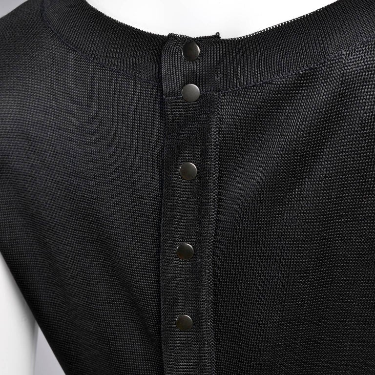 Black Alaia Vintage Top From the Late 1980s or Early 1990s  For Sale 1
