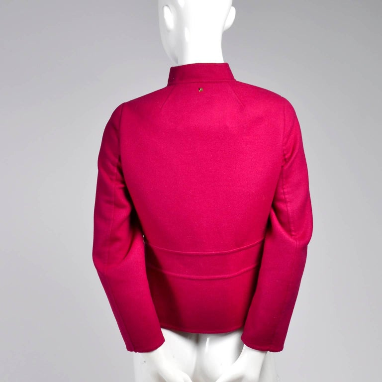 Valentino Jacket L'Amour Raspberry Red Size 4 Small For Sale 3