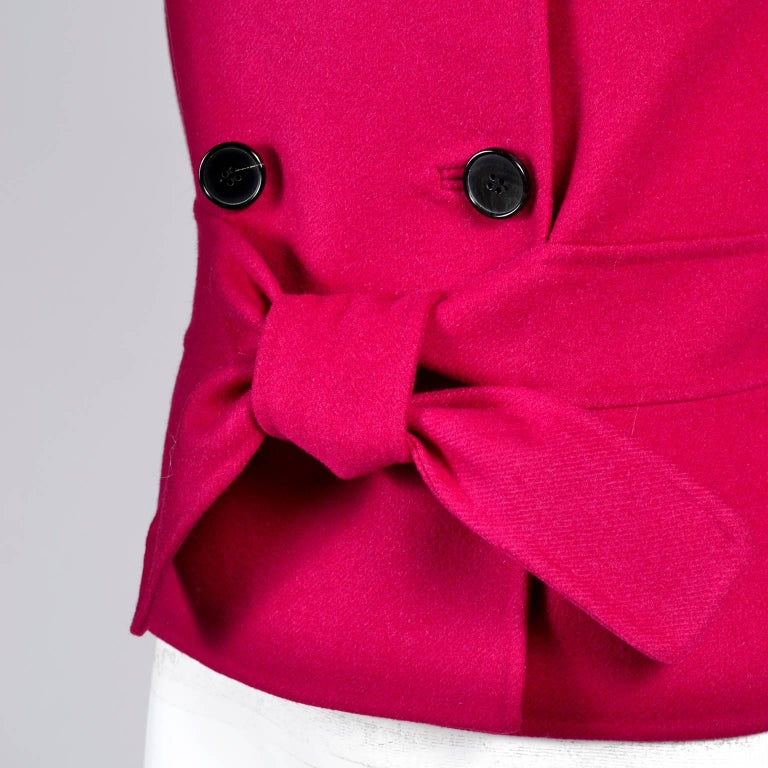 Valentino Jacket L'Amour Raspberry Red Size 4 Small For Sale 2