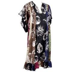 Emanuel Ungaro Parallele Vintage Dress in Tropical Floral Print Caftan Style