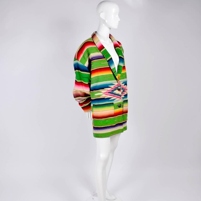 1990 Cher Owned Mermaids Vintage Southwestern Coat by Chris O'Connell W Photo 2