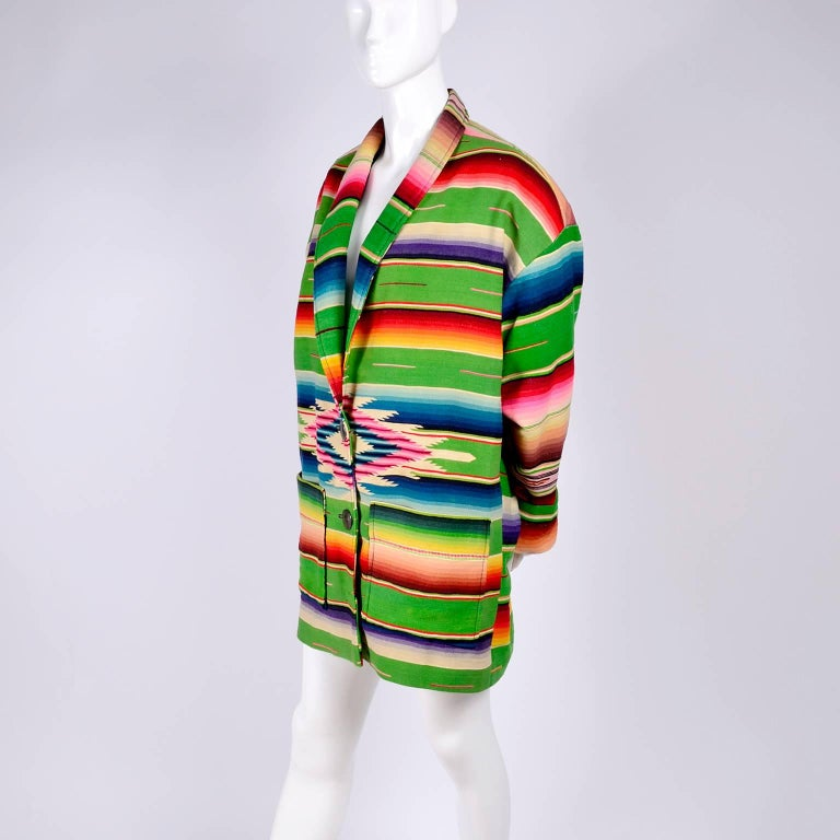 1990 Cher Owned Mermaids Vintage Southwestern Coat by Chris O'Connell W Photo In Excellent Condition In Portland, OR