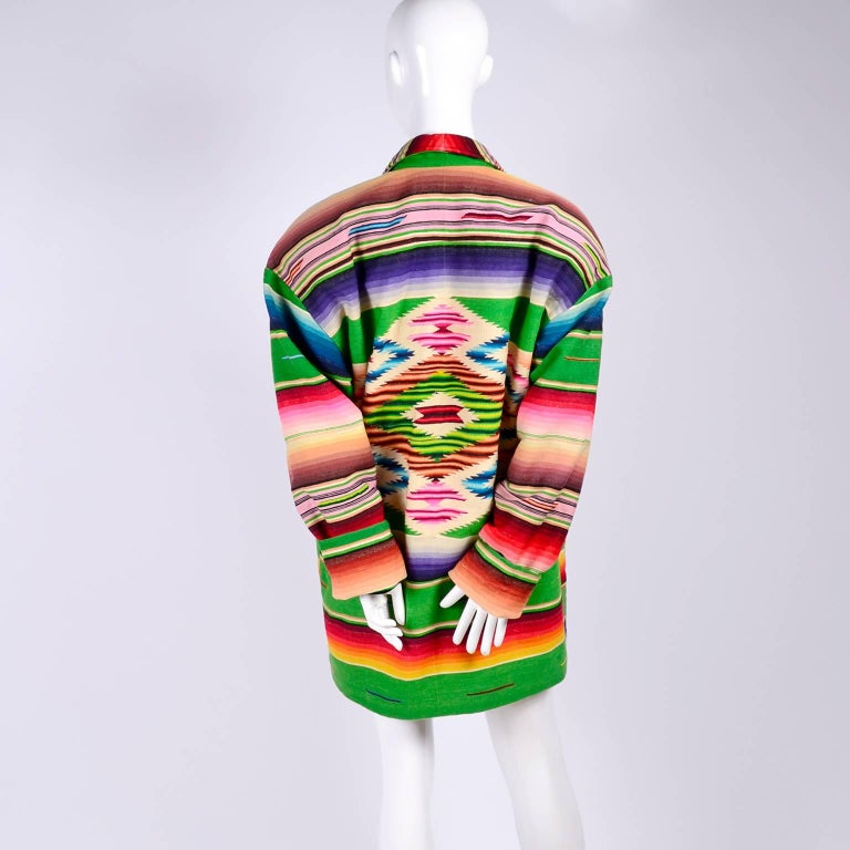 Women's 1990 Cher Owned Mermaids Vintage Southwestern Coat by Chris O'Connell W Photo