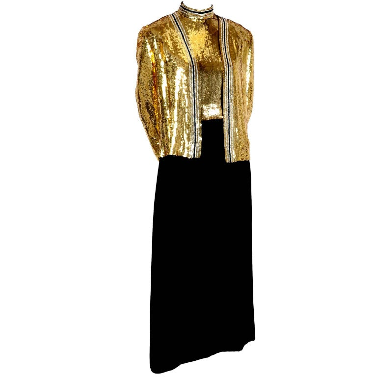 We Are Honored To Offer This Gorgeous Vintage Dress And Jacket Ensemble On 1stdibs