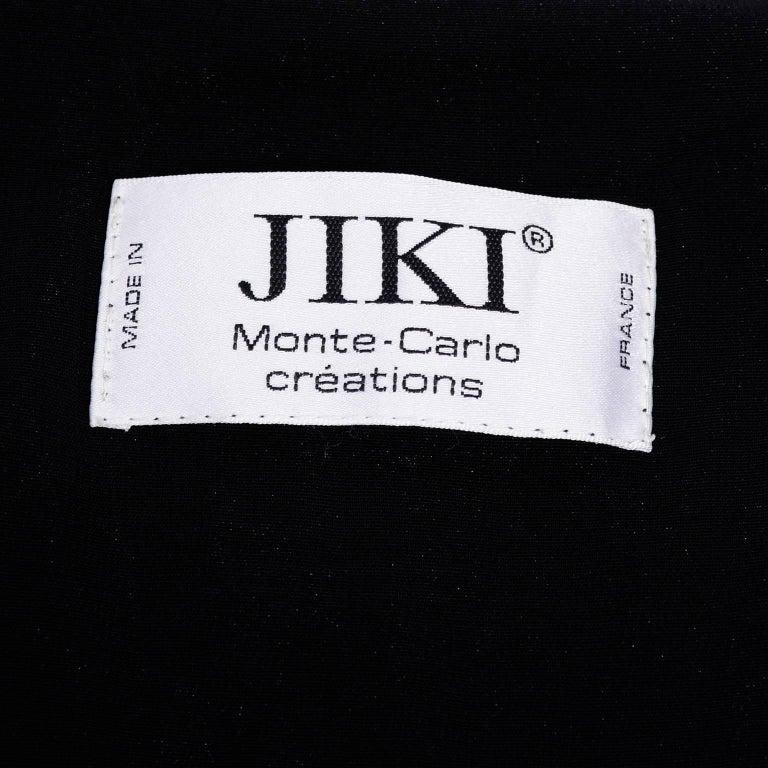 Jiki Monte Carlo Dress Long Black Evening Gown W Rhinestones and Metal Mesh 6 For Sale 7