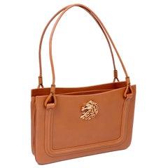 Martin Van Schaak Handbag Custom Made Pebbled Leather Bag W Horse Head
