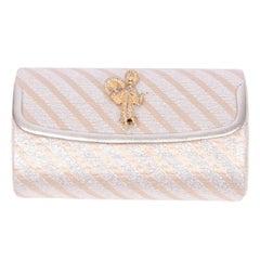 Martin Van Schaak Handbag Custom Designed Evening Bag Gold Woman W/ Turban & Fan